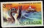 Stamps Nicaragua -  150 Aniversario de Julio Verne