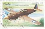 Sellos de America - Cuba -  Aviones de Combate II Guerra Mundial- Curtiss P-40 (Estados Unidos)