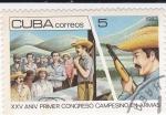 Stamps Cuba -  XXV Aniv. Primer Congreso Camesino en Armas