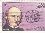 Sellos de America - Cuba -  150 Aniv. del Primer Sello Postal