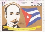 Stamps Cuba -  Centenario de la guerra de Independencia -José Martí