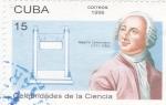 Sellos de America - Cuba -  Celebridades de la Ciencia- Mijail Lomonosov  1711-1765