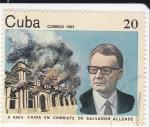 Stamps Cuba -  X Aniv. en Combate de Salvador Allende