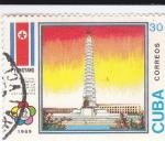 Sellos de America - Cuba -  Festival Mundilal de la Juventud-Pyongyang