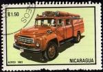 Stamps Nicaragua -  CAMIÓN DE BOMBEROS