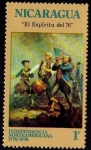 Stamps America - Nicaragua -  INDEPENDENCIA NORTEAMERICANA 1776 - 1976