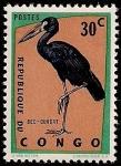 Stamps Africa - Republic of the Congo -  Cigüeña negra