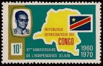 Stamps : Africa : Democratic_Republic_of_the_Congo :  Aniversario de Independencia