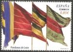 Stamps Spain -  Pendones de León