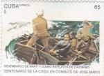 Stamps Cuba -  Centenario de la caida en combate de José Martí