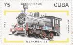 Stamps Cuba -  Espamer-98 Locomotora