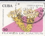 Stamps Cuba -  Flores de Cactus-  Leptocereus santamarinae