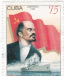 Sellos de America - Cuba -  80 Aniversario de la revolución socialista de octubre