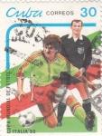 Stamps Cuba -  Copa Mundial de Futbol- Italia 90
