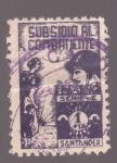 Stamps Spain -  Subsidio al combatiente- Santander