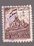 sellos de Europa - España -  frontispicio del ayunt. de barcelona