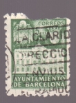 sellos de Europa - España -  fachada del ayunt. de barcelona