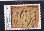 Sellos de Europa - España -  El Románico Aragones-Detalles del sarcófago de Doña Sancha   (M)