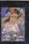Sellos de Europa - España -  La mujer y las flores- Pintor Alfredo Roldán     (M)