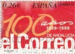 Sellos de Europa - España -  100 Años 1899-1999 de EL CORREO  de Andalucía     (M)