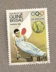Stamps Africa - Guinea Bissau -  Olimpiadas Los Angeles 1984