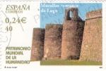 Stamps Spain -  Patrimonio de la Humanidad-  MURALLAS ROMANAS DE LUGO      (M)