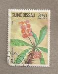 Sellos de Africa - Guinea Bissau -  Flor Euphorbia milia