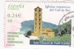 Sellos de Europa - España -  Patrimonio de la Humanidad-  IGLESIA ROMÁNICA  DEL VALL DE BOÍ      (M)