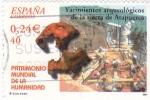 Stamps Spain -  Patrimonio de la Humanidad- YACIMIENTOS  ARQUEOLÓGICOS DE ATAPUERCAS      (M)