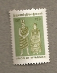 Stamps of the world : Myanmar :  Trajes tipicos