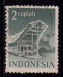 Sellos del Mundo : Asia : Indonesia : Arquitectura