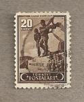Stamps Turkey -  Monumento en Ankara