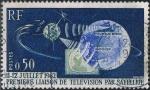 Sellos de Europa - Francia -  PRIMERA CONEXI�N DE TELEVISI�N POR SAT�LITE TELSTAR. Y&T N� 1361