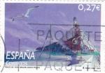 Stamps Spain -  Trazo de Tiza -Miguelanxo  Prado          (M)