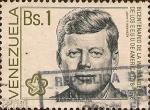 Sellos del Mundo : America : Venezuela : Bicentenario de la Independencia USA. J. F. Kennedy.