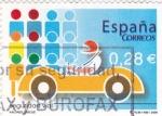 Sellos de Europa - España -  Valores Cívicos- Seguridad Vial      (M)