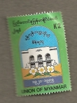 Stamps Asia - Myanmar -  Edificio