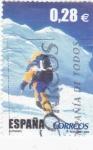 Stamps Spain -  Al filo de lo imposible-  Alpinismo           (M)