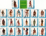 Stamps Africa - Saudi Arabia -  uniformes militares