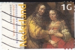Sellos de Europa - Holanda -  Cuadro de Rembrant- Museo de Amsterdam