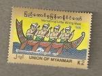 Sellos del Mundo : Asia : Myanmar : Semana Internacional Escritura Cartas