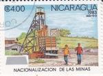 Sellos de America - Nicaragua -  Nacionalización de las Minas