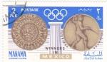 Stamps Bahrain -  Juegos Olímpicos de México-68  Esgríma