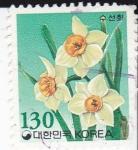 Stamps South Korea -  Flores