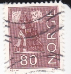 Stamps : Europe : Norway :  Casa típica noruega