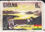 Sellos del Mundo : Africa : Ghana : Embalse de Akosombo Dam