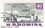 Sellos de Europa - Rumania -  Fabrica en -Govora-