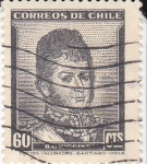 Stamps Chile -  Bernardo O'Higgins militar chileno