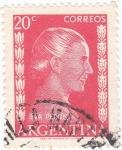 Stamps Argentina -  Eva Perón-Política