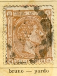 Stamps Spain -  Alfonso XII Ed 1875 Comunicaciones